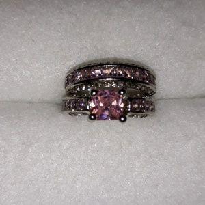 Jewelry - Wedding Set- Pink Sapphire